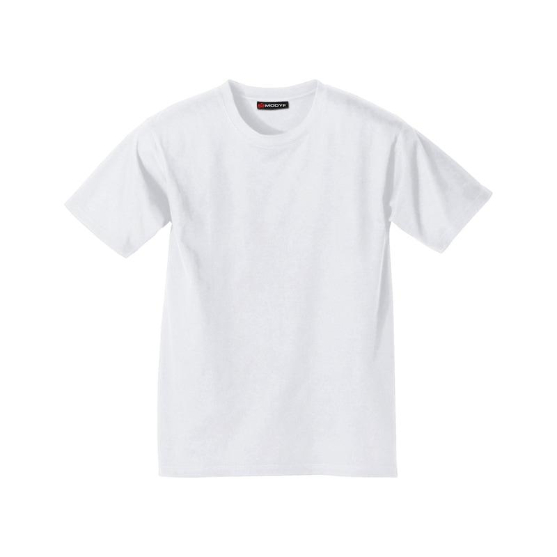 T-Shirt Doppelpack - MODYF T-SHIRT DOPPELPACK WEISS GR.M