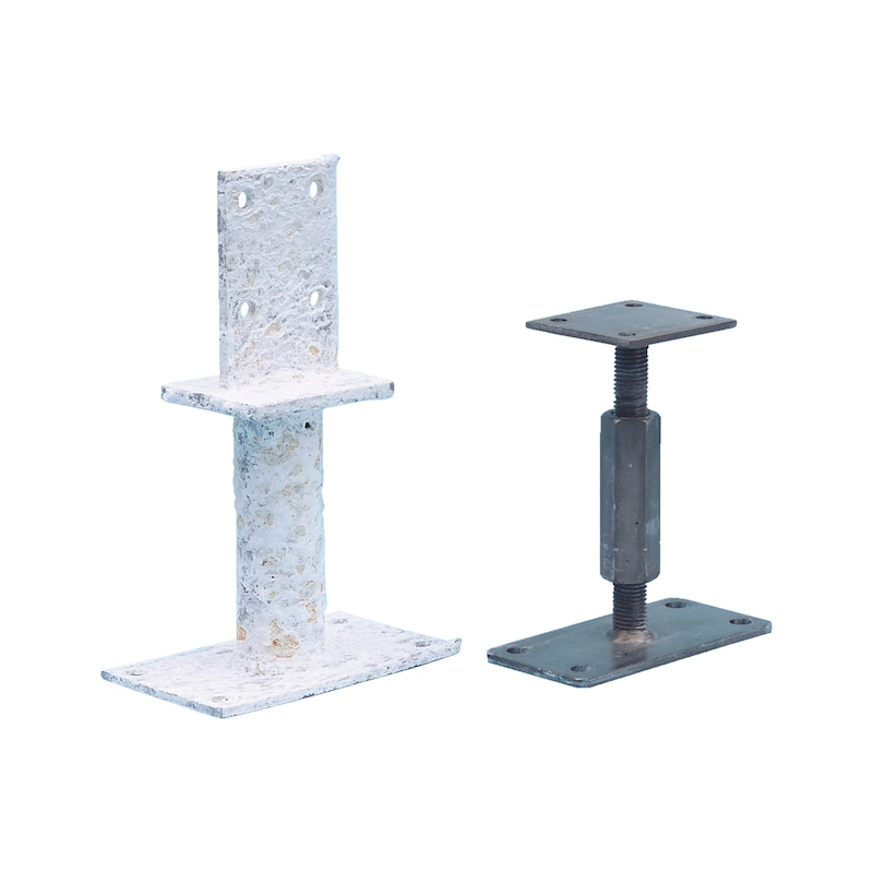 Pfostenträger D-F-H/R3R - PFOSTTRG-DBL-R3R-FLACH-(H135-160)