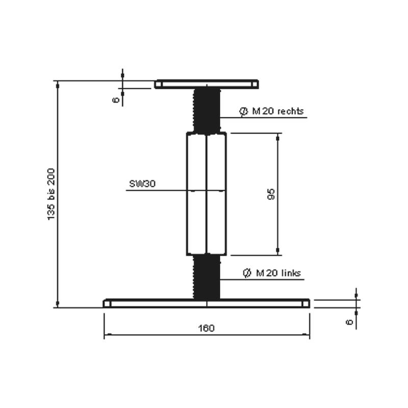 Pfostenträger D-F-H/R3R - 2