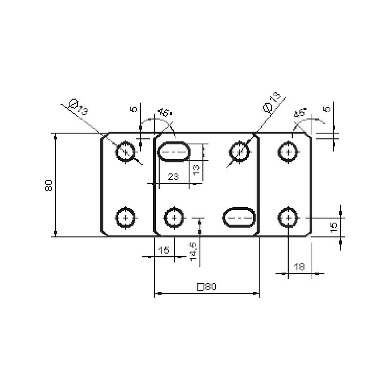 Pfostenträger D-F-H/R3R - 4