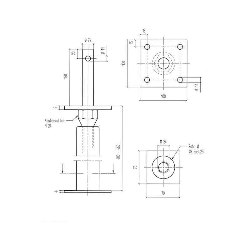 Pfostenträger BP-D-H/TZN - 2
