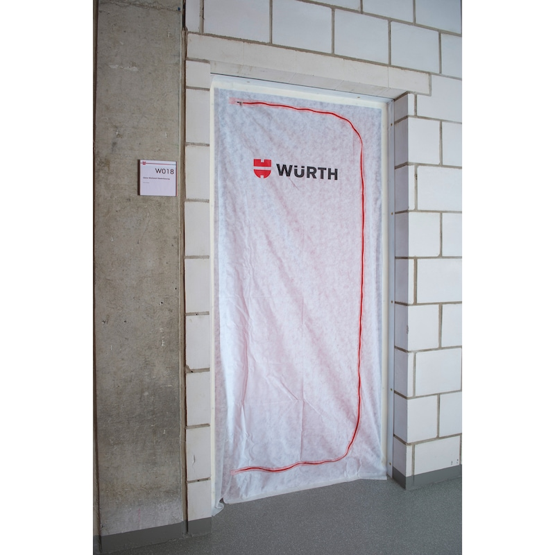 Dust protection door - DSTPROTDIVIDR-KIT-ADHTPE-L2,2XW1,1M-2PCS