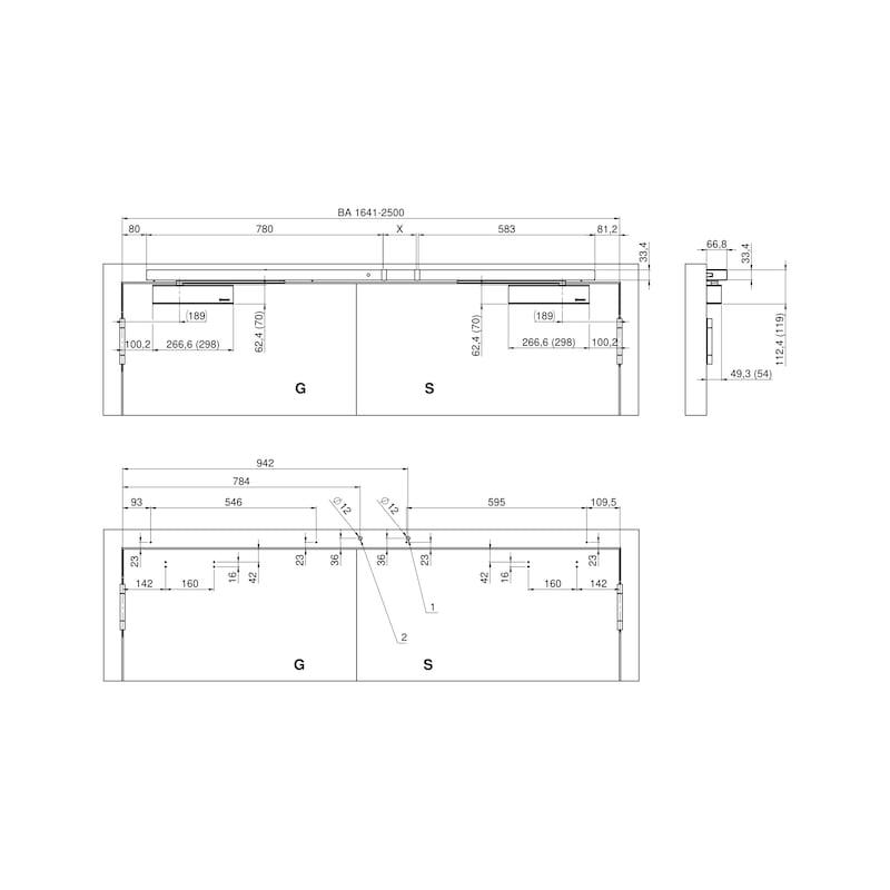 Elektromagnetische Feststellanlage zweiflügelig mit GTS 640 und integriertem Rauchmelder - 3