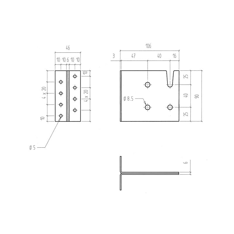 Balkenträger - BALKENTRG-H90MM
