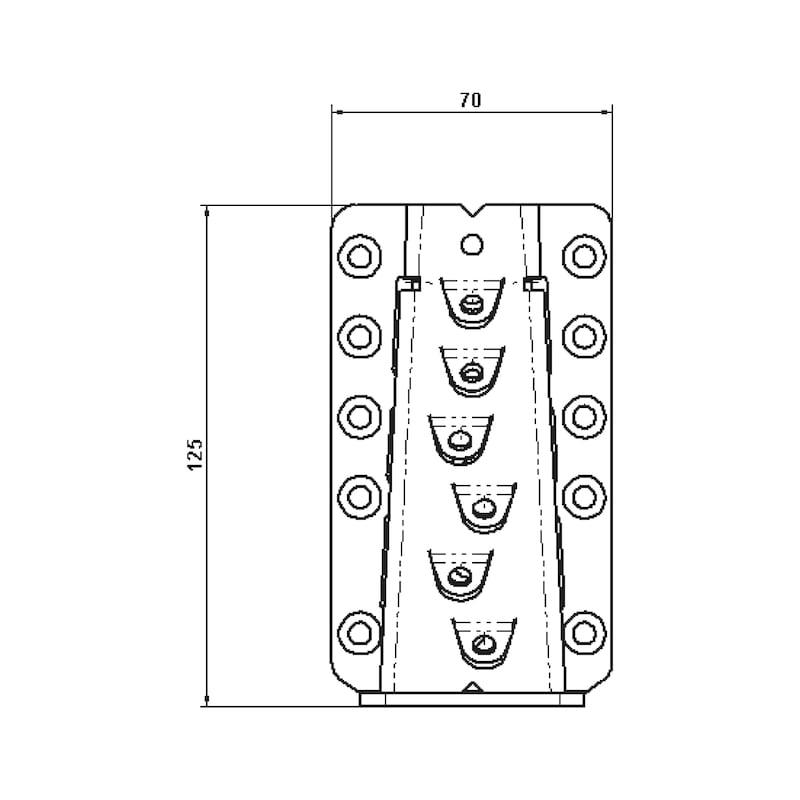 Unsichtbarer Balkenverbinder - VERB-HO-VERDECKT-70X125MM