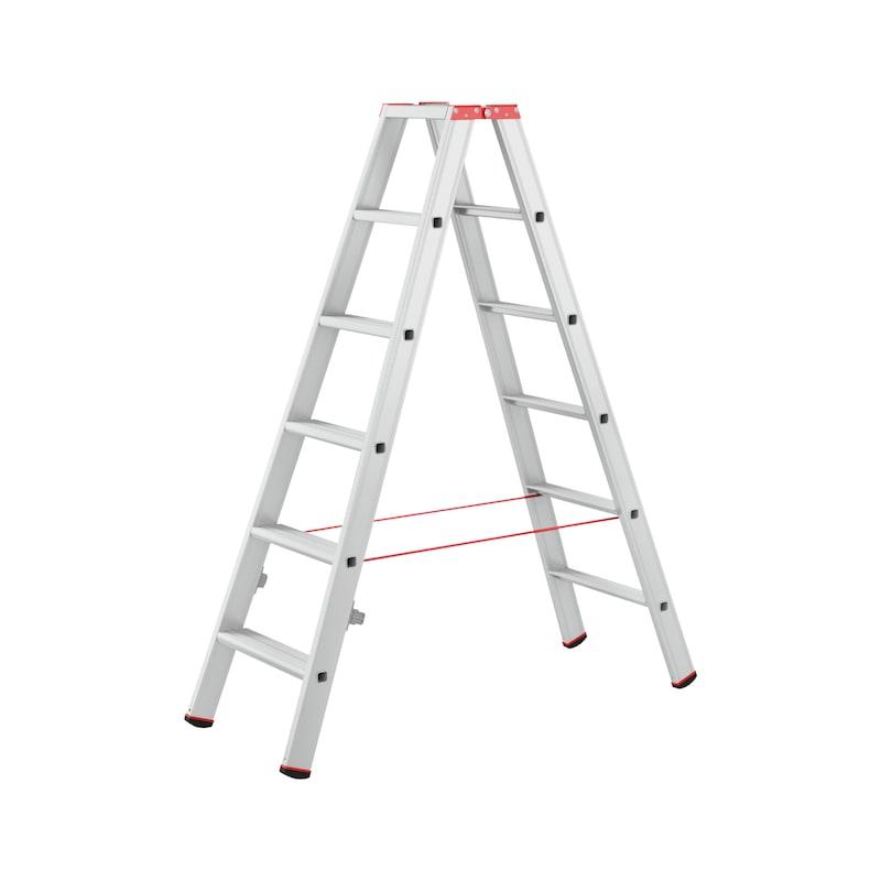 Alu-Stufenstehleiter gebördelt - 1