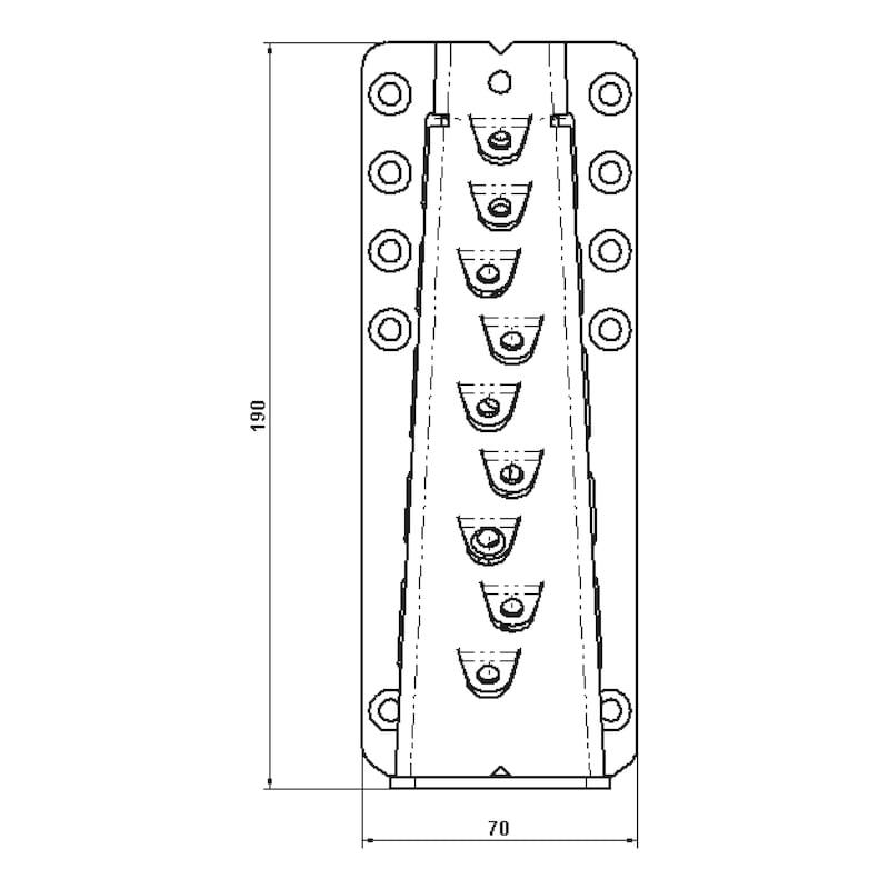 Unsichtbarer Balkenverbinder - VERB-HO-VERDECKT-70X190MM