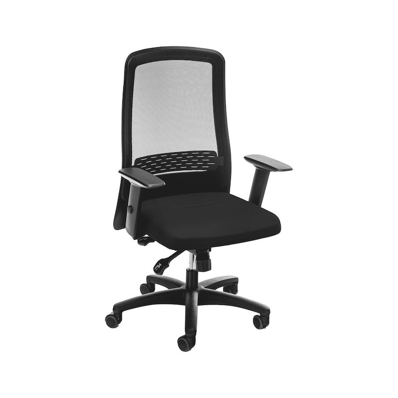 Bürodrehstuhl Comfort II mit hoher atmungsaktiver Netz-Rückenlehne - 1