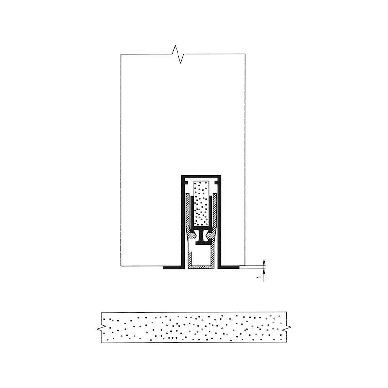 Kapı altı izolasyon, otomatik AT 48 - KAPI ALTI SÜPÜRGELİĞİ 950MM