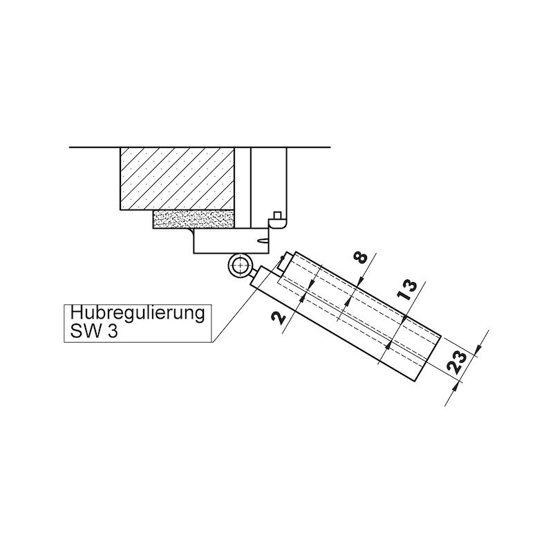 Automatische Türabdichtung AT 42 RD - TRABDI-AT42-(RH-RD)-L-L1085MM