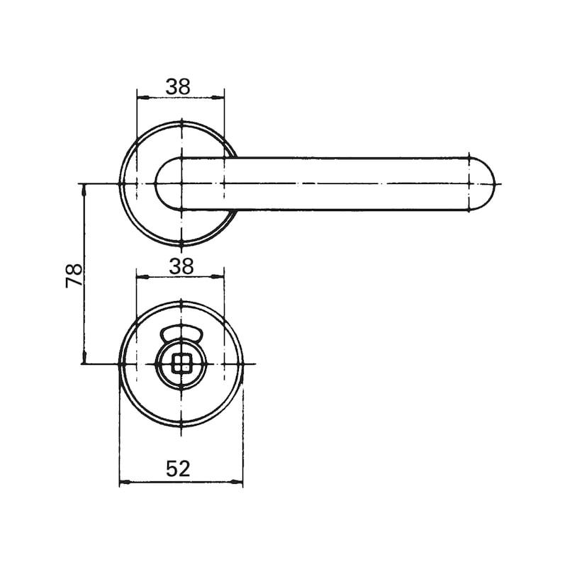 Dverová kľučka, priemer 20 - KLUCKA DVER. PLAST U/D20 WC CIERNA