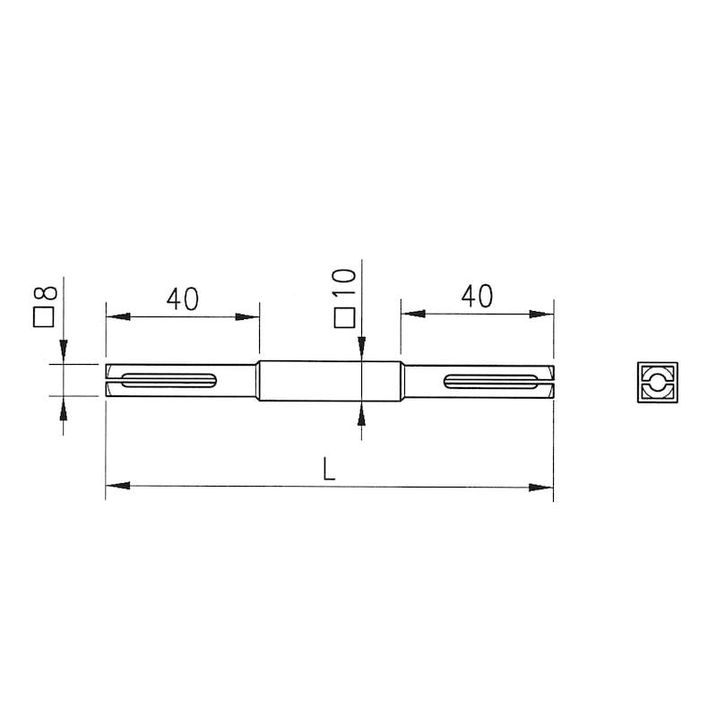 10 8 mm x 120 mm Vierkant Vollstift Stift Vierkantstift abgesetzt verzinkt 8