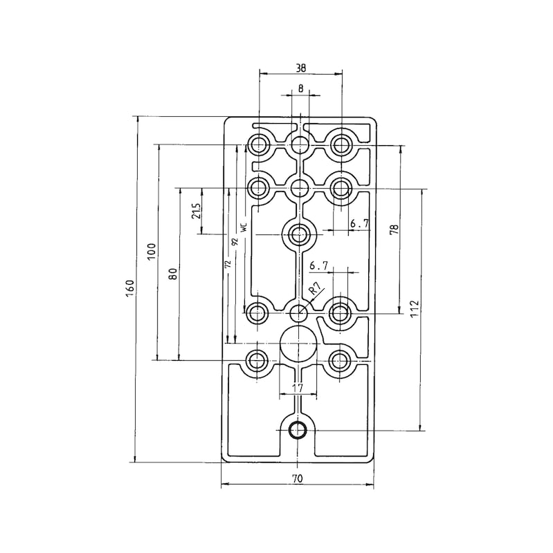 Bohrlehre  Für Nylon-Türdrücker - 2