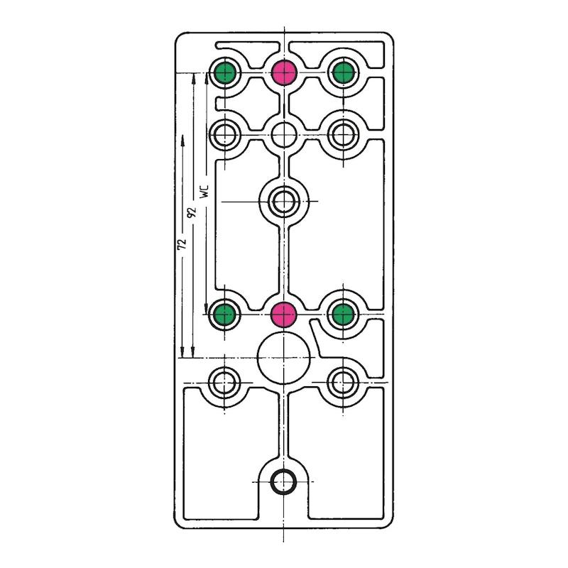 Bohrlehre  Für Nylon-Türdrücker - 4