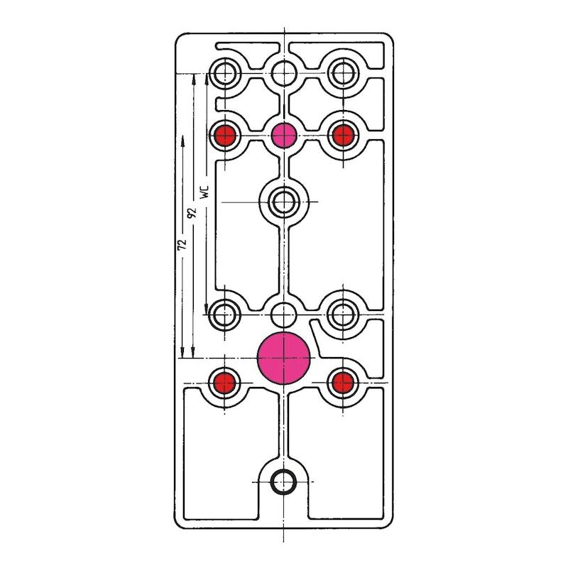 Bohrlehre  Für Nylon-Türdrücker - 3