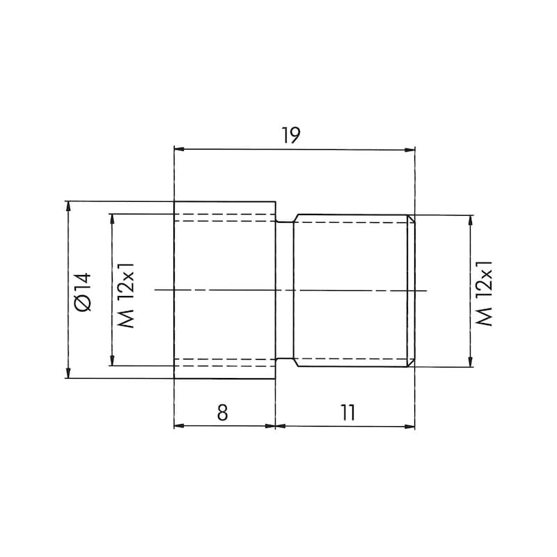 Verlängerung für Türspion  Typ B + Typ C - 2