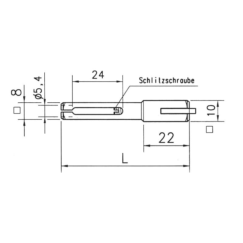 Hakenwechselstift - ZB-HAKENSTIFT-LOTL-ST-(ZN)-8/10X90MM