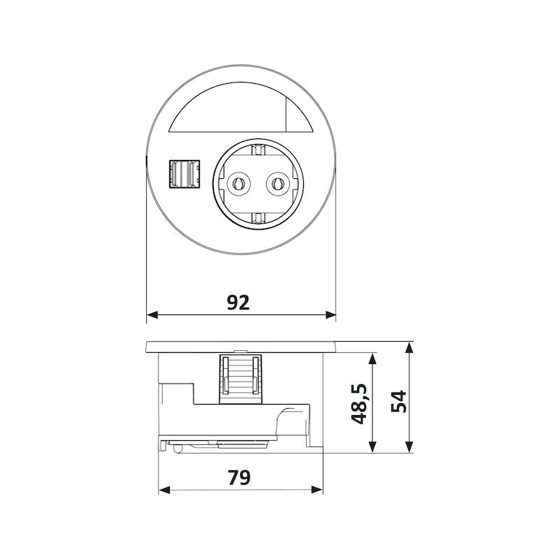 Einbau-Steckdose EST-5 - 4