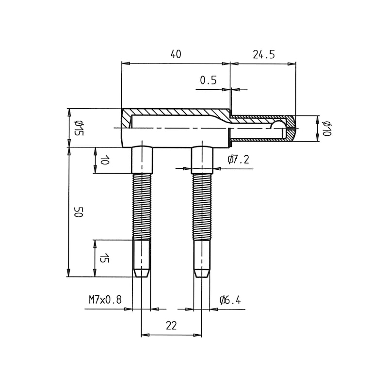 Rahmenteil  für Holzzargen WF - 2