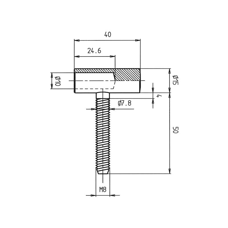 Flügelteil - EINBOBA-EINSTE-FLG-ZIMMTR-(NI)-D15