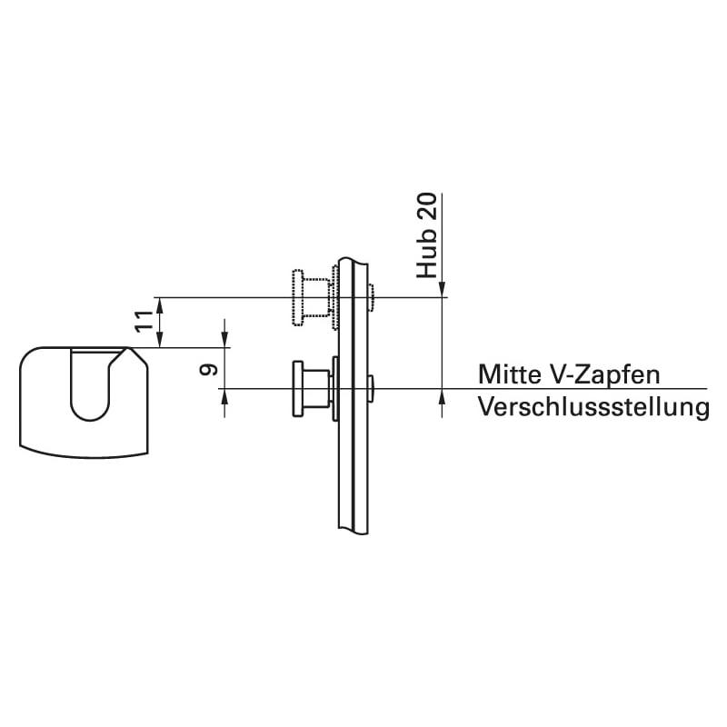 V-Zapfen-Schließstück - 3