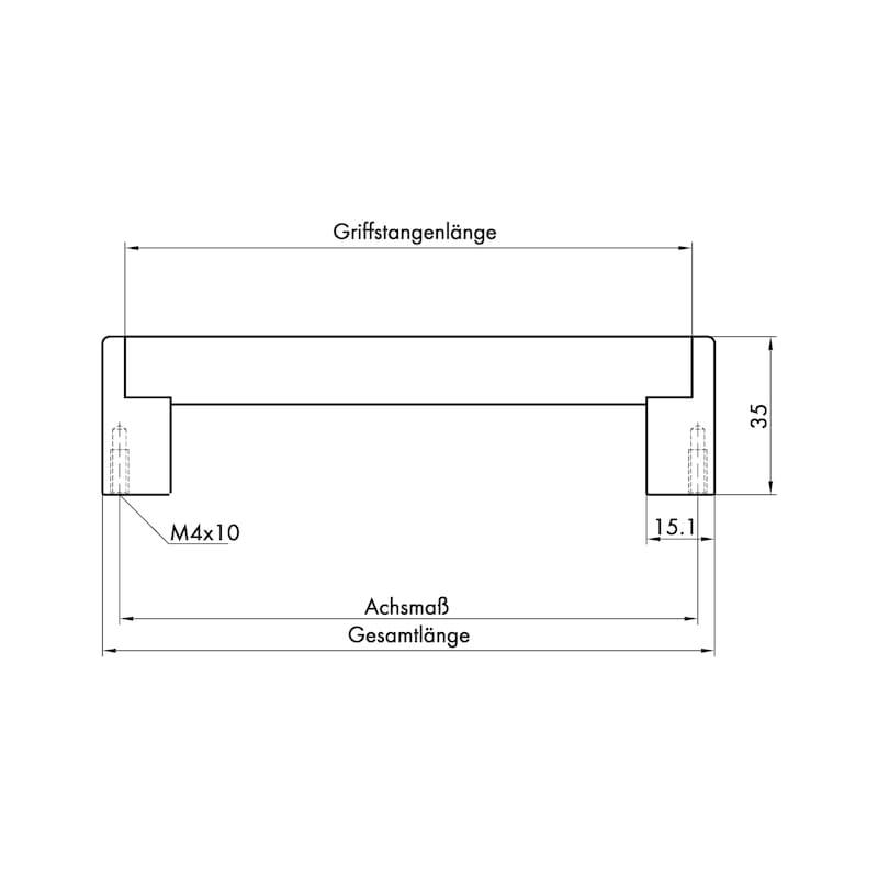 Design-Möbelgriff Bügelform MG-ZDAL 2 - 3