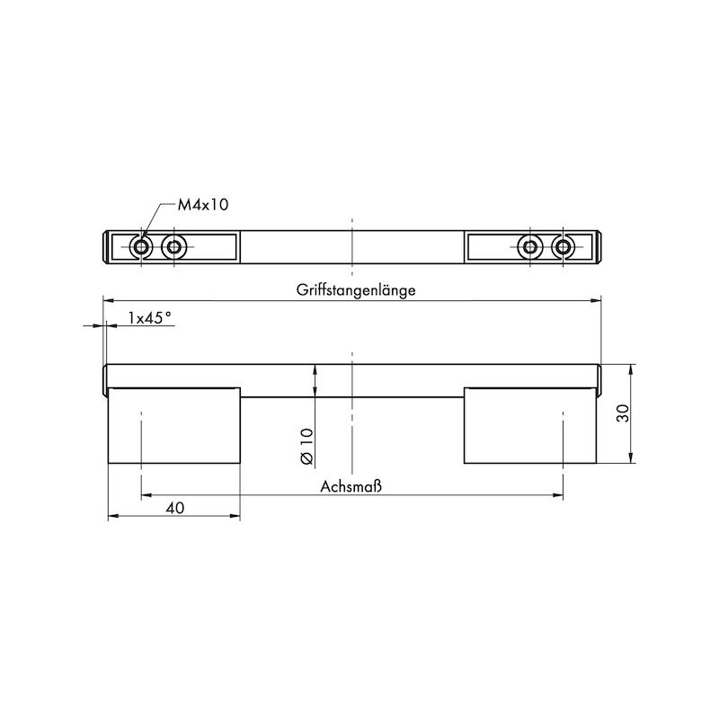 Design-Möbelgriff Bügelform MG-ZDST 1 - 3