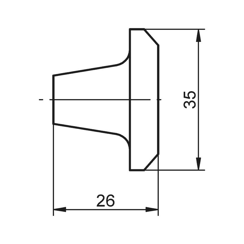 Möbelknopf MK-ZD 1 - 2