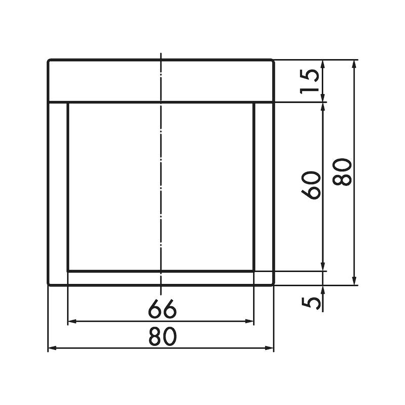 Muschelgriff quadratisch MUG-ZD 1 - 3