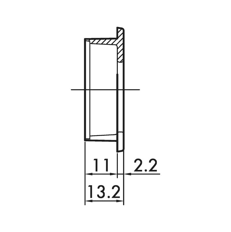 Muschelgriff rechteckig MUG-ZD 2 - 4
