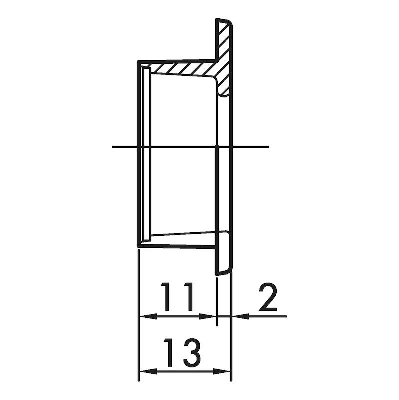 Muschelgriff rechteckig MUG-ZD 2 - 2