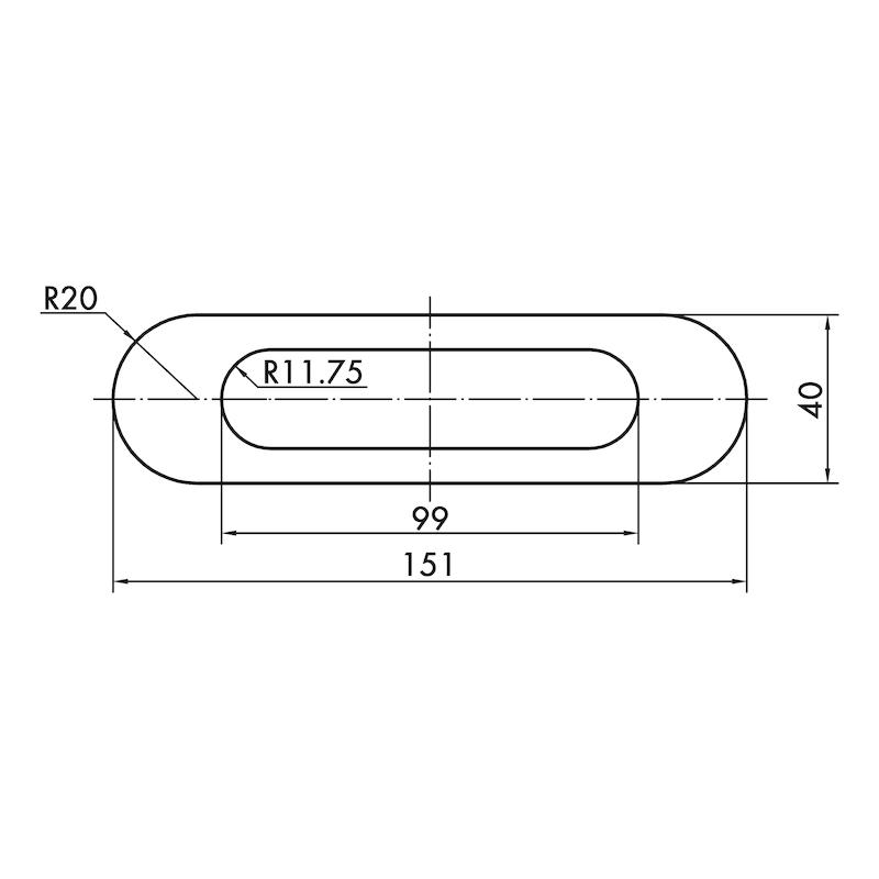 Muschelgriff oval MUG-ZD 3 - 7