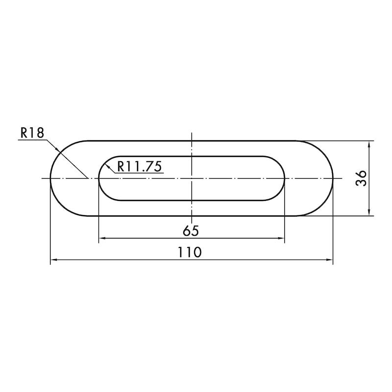 Muschelgriff oval MUG-ZD 3 - 4