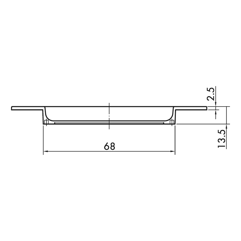 Muschelgriff oval MUG-ZD 3 - 3