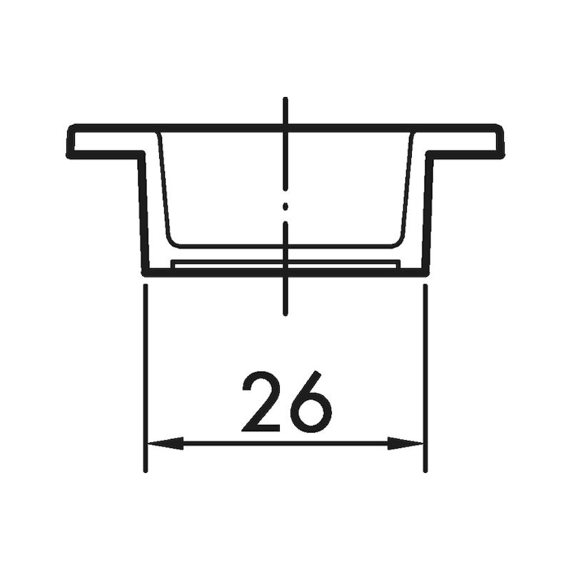Muschelgriff oval MUG-ZD 3 - 2