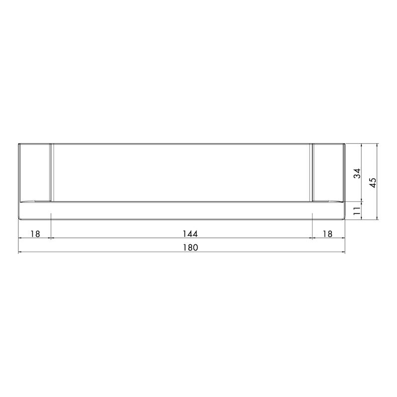 Maniglia di design con guscio, rettangolare MUG-ZD 5 - 4
