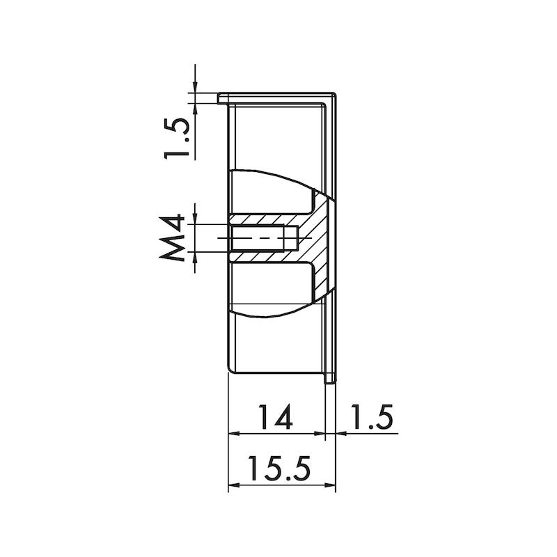 Maniglia di design con guscio, rettangolare MUG-ZD 5 - 3