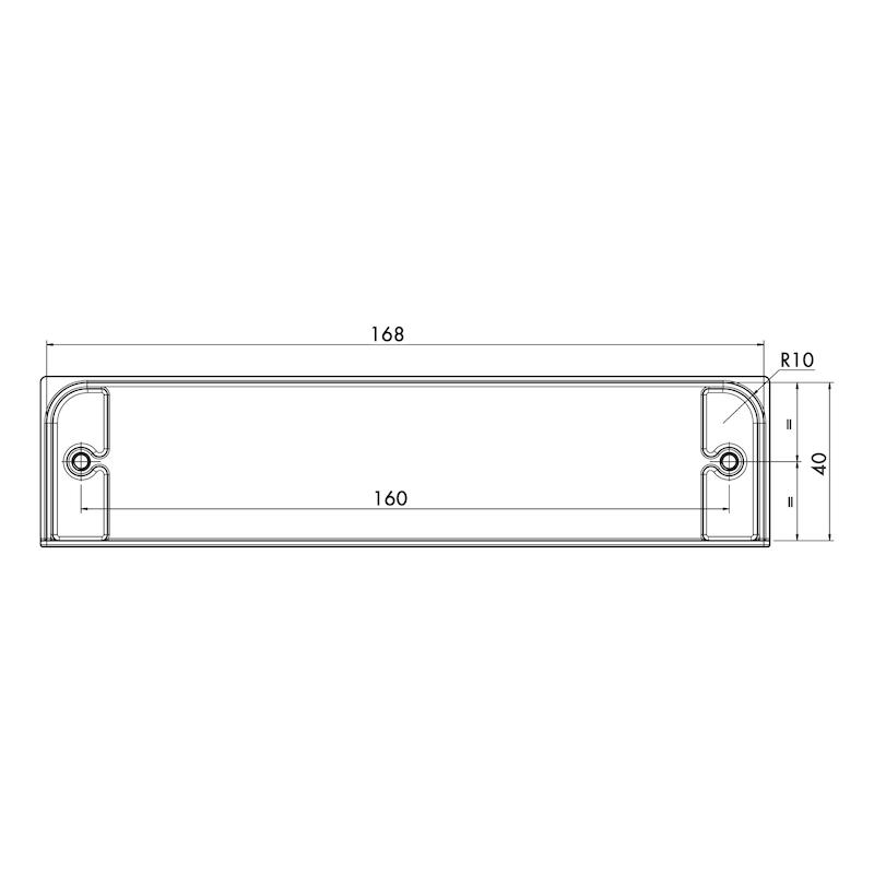 Maniglia di design con guscio, rettangolare MUG-ZD 5 - 2