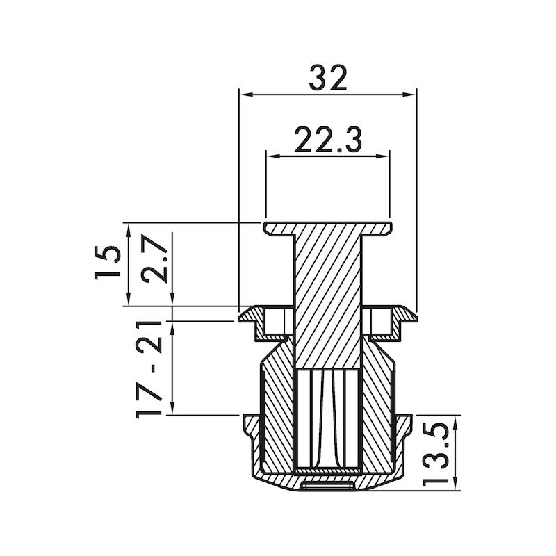 Möbelknopf MK-ZD 8 - 4