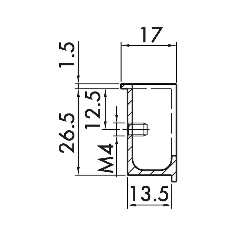 Muschelgriff MUG-ZD 6 - 2