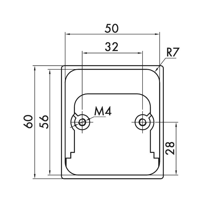 Muschelgriff MUG-ZD 7 - GRF-MUSCHEL-MUG-ZD-7-NI-POL-54X60MM