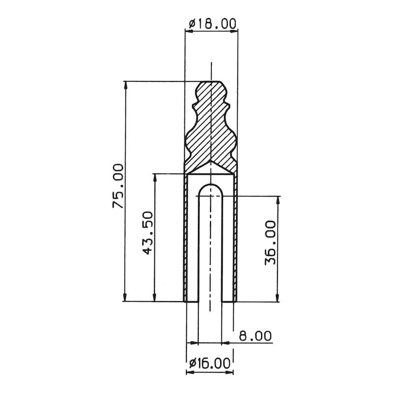 Abdeckkappe Für 3-D Bänder - ABDEKA-ZIERKOPF-MS-POLIERT-D16MM