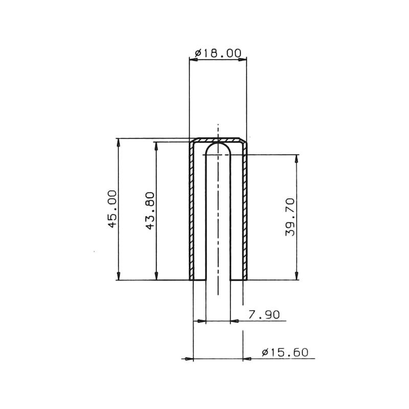 Abdeckkappe Für 3-D Bänder - ABDEKA-KST-R9010-REINWEISS-D16MM