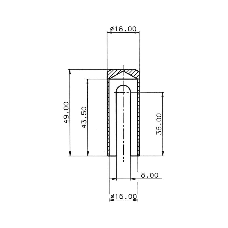 Abdeckkappe  Für 3-D Bänder - ABDEKA-MS-POLIERT-D16MM