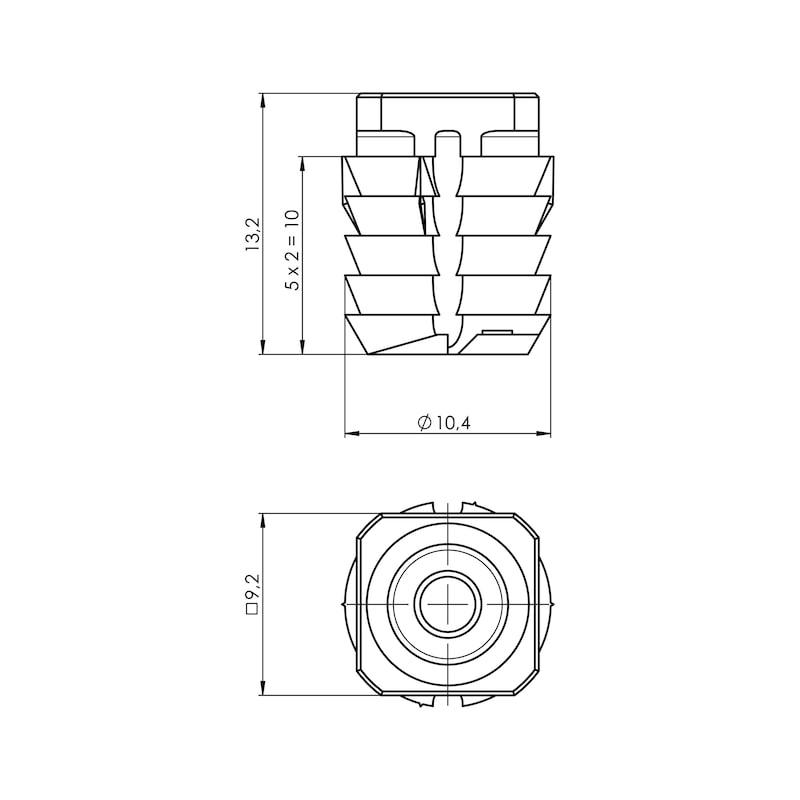 Dübel für Scharniertopf TIOMOS - 2