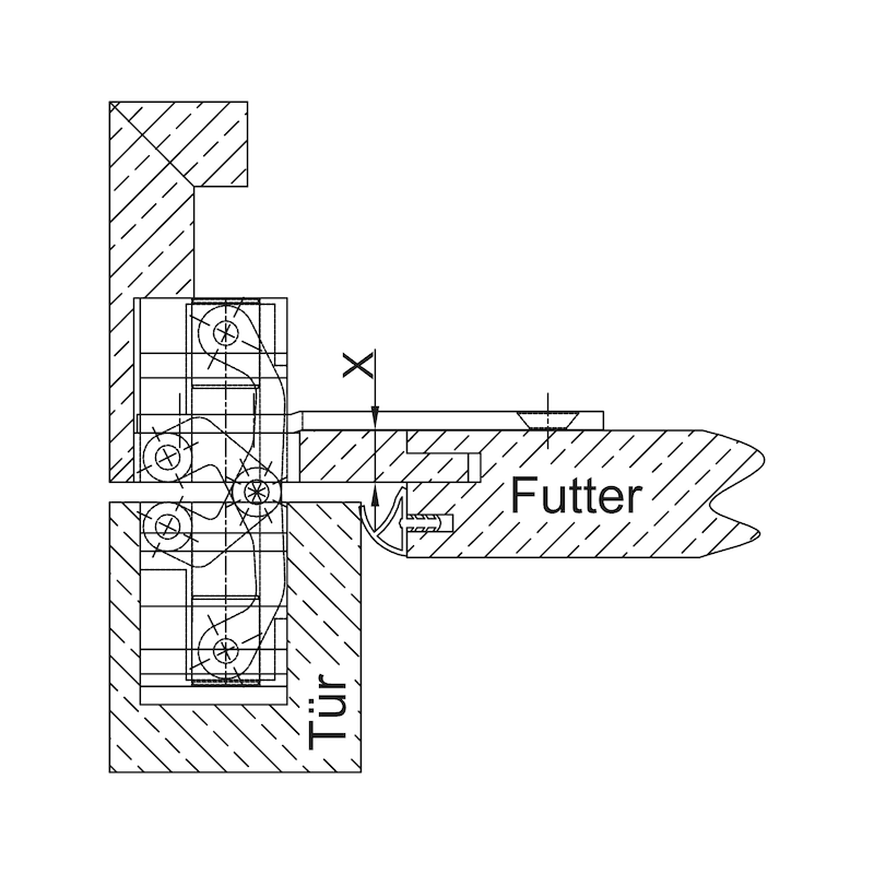 Befestigungsplatte für VLB 200 - 3