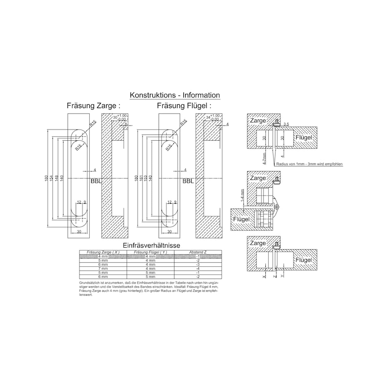 Türband VLB 60 3-D IHV - EINFRSBA-VLB60-3D-IHV-BAND-(A2/MATT-O)
