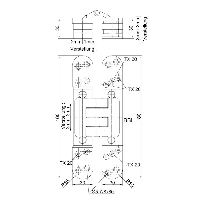 Türband VLB 60 3-D - EINFRSBA-VLB60-3D-BAND-(A2/MATT-OPTIK)