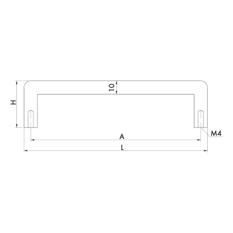 Design-Möbelgriff Bügelform MG-A 6 - 4