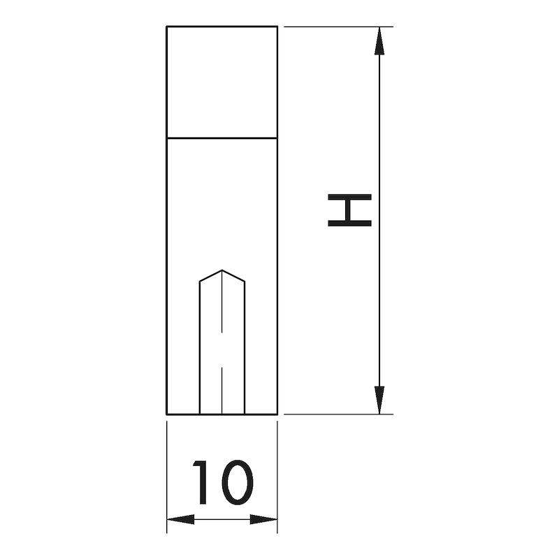 Design-Möbelgriff Bügelform MG-A 6 - GRF-BGL-(MG-A6)-GEBURST-MATT-160MM